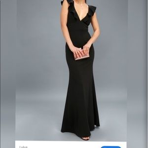Black Lulus perfect opportunity gown